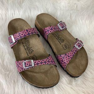 Birki's Purple Pink Geometric Sandals